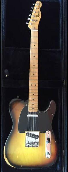 1978 Fender Telecaster in a Sunburst finish, maple neck.