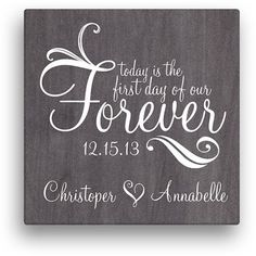 Forever Personalized Canvas Wall Art, Size: 16 inch x 16 inch, Black - My Wedding Personalised Canvas, Personalized Wall Art, Personalized Wedding Gifts, Unique Wedding Gifts, Customized Gifts, Wedding Canvas, Cricut Wedding, Donia, Custom Charms