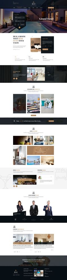 Grand - Hotel & Resturent PSD Template #food #guesthouse #holiday • Download ➝ https://themeforest.net/item/grand-hotel-resturent-psd-template/19971999?ref=pxcr