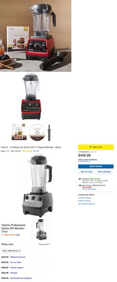 Vitamix Professional Series 500 Gallery Collection Black Blender SEALED