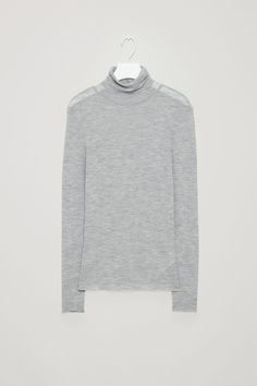 COS image 5 of Roll-neck wool top in Grey