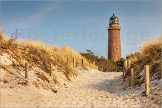 Poster Leuchtturm Darßer Ort bei Prerow (Mecklenburg-Vorpommern)