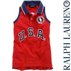Girls Ralph Lauren USA Sleeveless Polo