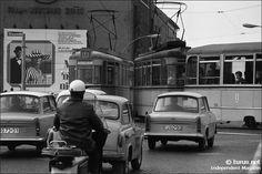 Straßenverkehr in Ostberlin um 1970