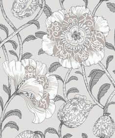 This wallpaper designed by Tanja Orsjoki for Vallila will definitely makes your walls stand out, with its large-scale floral pattern in beige and grey tones. Its design will add character to any room its placed in. Iphone Wallpaper Sky, Beige Wallpaper, Botanical Wallpaper, Embossed Wallpaper, Wallpaper Panels, Home Wallpaper, Wallpaper Roll, Farmhouse Wallpaper, Wallpaper Collection
