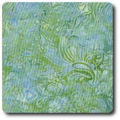Aqua and green flowers