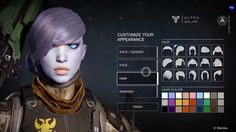 Destiny ps4 game | Select | Character | Appearance