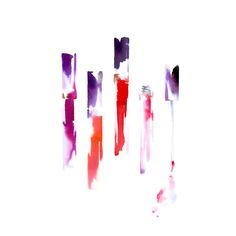 lip gloss/watercolor/illustration