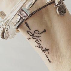 Tattoos for women, small wrist tattoos, word tattoo wrist, cross wrist Mini Tattoos, Wörter Tattoos, Neue Tattoos, Word Tattoos, Trendy Tattoos, Body Art Tattoos, Small Tattoos, Tatoos, Joy Tattoo