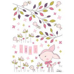 Ces stickers de la collection by Elisa M. pour Lilipinso apportent une touche colorée au décor d'une chambre d'un enfant.