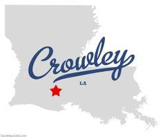 crowley, louisiana   Map of Crowley Louisiana LA