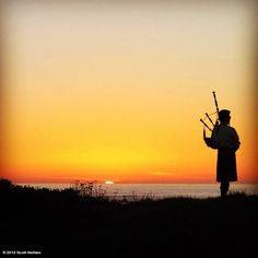 Piper at the Gates of Dusk. Show up at sunset.enjoy a cocktail.and listen to the bagpiper. California Dreamin', Pebble Beach, So Little Time, Spring Break, Dusk, Gates, Spanish, San Francisco, Photographs