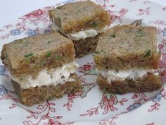 Tea With Friends: Tea Sandwich Saturday #4 - Pineapple Cream Cheese on Zucchini Bread