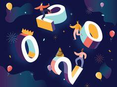 Happy New Year: Roaring 20's by Irenes Olivas on Dribbble New Year Illustration, Roaring 20s, Happy New Year, Creative, Graphics, Design, Graphic Design, Roaring Twenties