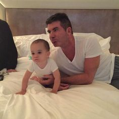 Simon Cowell and Son Eric Have Matching V-Necks and Cute Little Pouts  Simon Cowell, Twitter