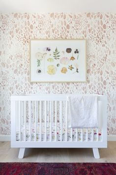 Fitted Crib Sheet – Floral Baby Bedding / Botanical Crib Sheet / Bloom Alma Mini Crib Sheets / Chang - Baby Boy Names Baby Girl Names Floral Nursery, Boho Nursery, Baby Nursery Decor, Nursery Design, Nursery Ideas, Western Nursery, Nursery Book, Whimsical Nursery, Nursery Rugs