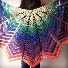 Excited to share this item from my shop: NEW - Crochet Chevron Rainbow Shawl, Cotton Shawl, Very Soft, Handmade, Spring Summer Fashion Accessories Crochet Wrap Pattern, Chevron Crochet, Crochet Lace, Free Crochet, Crochet Tops, Cotton Crochet, Knitting Patterns, Crochet Patterns, Diy Crafts Crochet