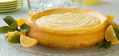 Crustless Lemon Honey Greek Yogurt Cheesecake