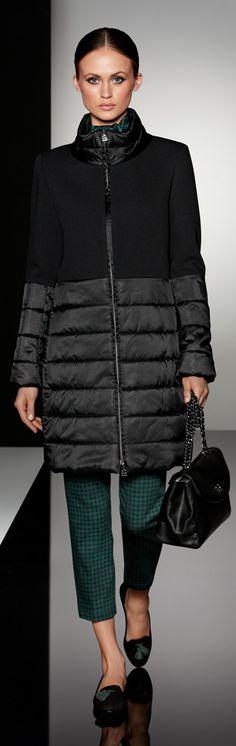 puffer and wool combo (Cinzia Rocca)