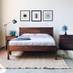Berkeley Bedframe + Headboard by Hedge House $1200 on imgfave