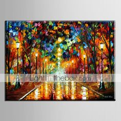 Oil Painting Decoration Abstract Night Scene Hand Painted Canvas with Stretched Framed 2015 – $69.99
