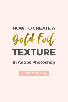 Follow this simple tutorial to learn how to create a realistic gold foil texture in Photoshop. Use it to create seamless patterns and apply it to text.