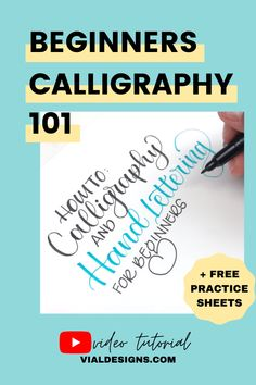 How to learn modern calligraphy for beginners by Vial Designs | Everything you need to know about modern calligraphy for beginners #vialdesigns #learncalligraphy #moderncalligraphy #learnletteringforbeginners