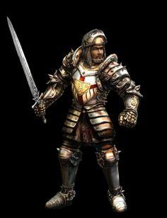 Kliknij aby obejrzeć w pełnym rozmiarze Gothic Games, Fantasy Characters, Fictional Characters, Paladin, Concept Art, Medieval, Video Games, Tattoo Designs, Wonder Woman