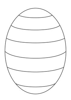 Blank Easter egg template to create your own patterns for pre-K and kindergarten. - Blank Easter egg template to create your own patterns for pre-K and kindergarten kids – from www. Easter Art, Easter Crafts For Kids, Easter Egg Template, Easter Egg Pattern, Imprimibles Baby Shower, 3d Templates, Drawing Templates, Meme Template, Easter Egg Coloring Pages