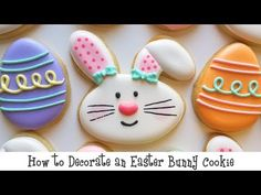 How to Decorate an Easter Bunny Cookie - YouTube