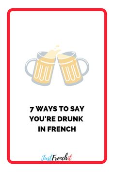 Alcohol and language learning… Interesting combo! What about learning how to say 'I'm drunk' in French, but 7 ways! French Phrases, French Words, French Class, French Lessons, French For Beginners, French Expressions, Teaching French, France, Travel Info