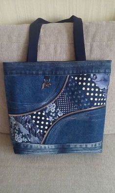 Upcycled Jeans and Zipper Tote