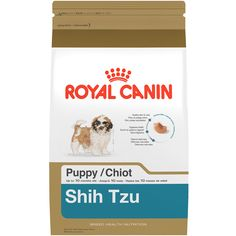 Royal Canin Shih Tzu Puppy Food - Specially formulated for Shih Tzu puppies up to 10 months old. Complete and balanced nutrition in a tailor-made kibble easy for tiny pups to chew. Diet formulated for skin and coat health. - http://www.petco.com/shop/en/petcostore/product/royal-canin-shih-tzu-puppy-food