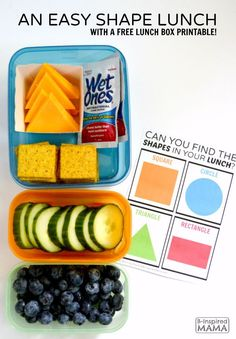 """""""Can You Find the Shapes in Your Lunch?"""" - A Free Kids Lunch Box Printable for Kids at B-Inspired Mama - Sponsored by #WishIHadAWetOnes"""