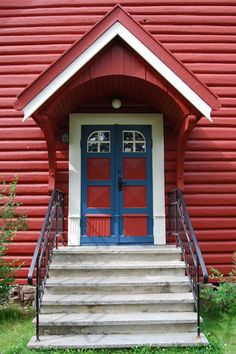Door to Dalen church, built in 1934, Norway