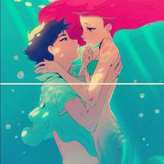 This is so pretty... #art #anime #mermaid #littlemermaid #ariel #disney by kieranstrange, via Flickr
