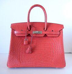 HERMES #BIRKIN 35 Bag in Matte ROSE INDIENNE w/palladium hardware. available mightykismet ebay