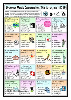 Grammar Meets Conversation 9 - Question Tags (9) - Asking For General Information