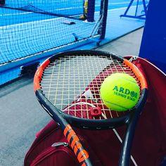 Pinを追加しました!/久々の深夜の #修行 帰ったらアイシング #tennis #wilson #burn95cv
