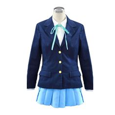 K-ON! Cosplay Costume - Ho-kago high school Female 2nd Large ** Click on the image for additional details.