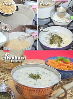 Yoğurtlu Erişte Çorbası Tarifi Diy Food, Cheeseburger Chowder, Pasta, Cooking, Soups, Turkish Recipes, Food Ideas, Kitchen, Soup