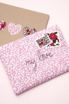@Jessica Sutton Fincham  from Messy Jessy shows us how to make a #LibertyPrint Valentine Envelope on the #LibertyCraftBlog #SewLiberty