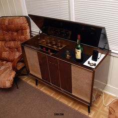 Vintage Ipod Dock And Liquor Cabinet