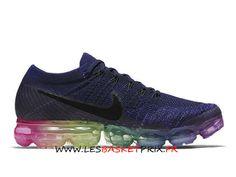 size 40 52877 bf2d4 Nike Air Vapormax Flyknit 883275-400 Chaussures DE Running Bleu Rose Pas  Cher Pour Homme