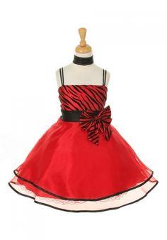 Red Zebra Print Taffeta Organza Flower Girl Dress (Sizes in 5 Colors) - Princess  Dresses - GIRLS 002ab100487f