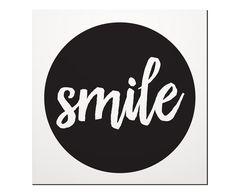 Placa Decorativa Smile - 20X20cm | Westwing - Casa & Decoração