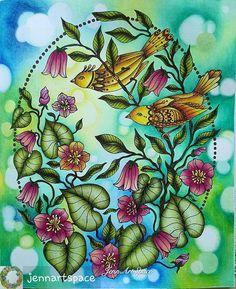 Hanna Karlzon in Day Dreams @Regrann from @jennartspace - #hannakarlzon #dagdrömmar #adultcolouringbook #adultcoloringbook #adultcoloringforum #ColoringMasterpiece #prismacolorpencils
