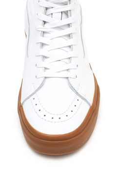 Vans for Opening Ceremony, SK8 Hi Sneakers Enjoy free ground shipping on all full price Vans, Vans Vault, and Vans for OC products. Sale items do not apply., Unisex, US men's sizing, Hi-top lace-up sneakerss, Round toe, Perforated trim along toe cap, Tonal mid sole, Leather upper, Rubber sole, Imported