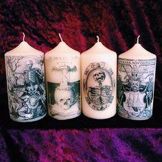 Macabro Memento Mori Gothic morte candele di DivineExcesss su Etsy