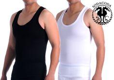 SODACODA Shapewear For Men Cotton Compression Tank